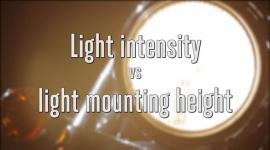 Light intensity vs. light mounting height